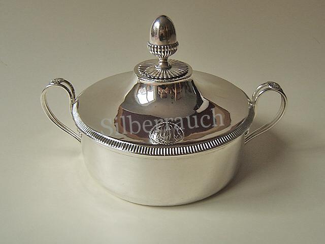 Empire Klassizismus Silber Gemüseschale aus Genf, frühes 19. Jahrhundert