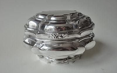 Herausragende Augsburger Barock Silber Zuckerdose