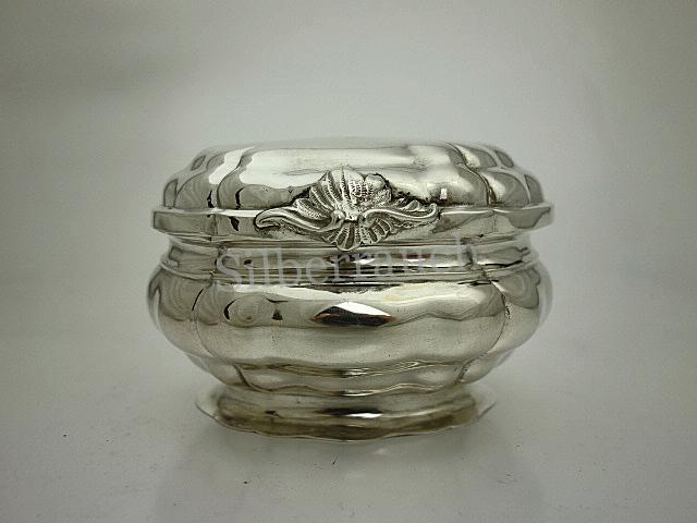 Rokoko Silber Zuckerdose aus Augsburg, 18. Jahrhundert