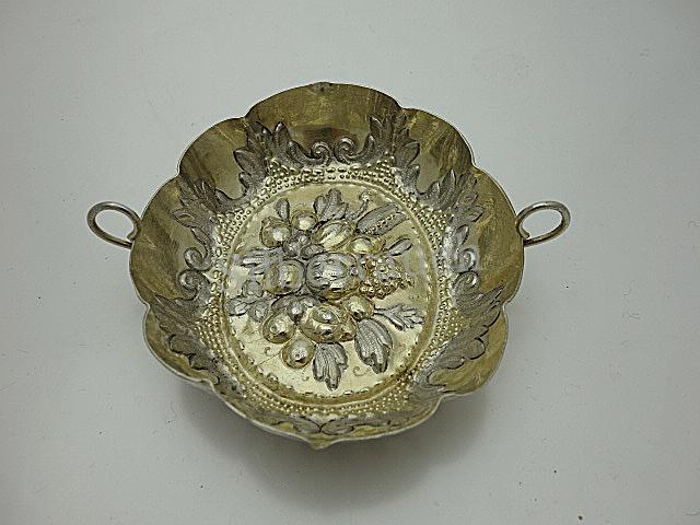 Barocke Silber Weinprobierschale aus Augsburg, 17, Jahrhundert