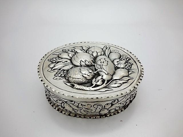 Barocke Deckeldose aus Silber
