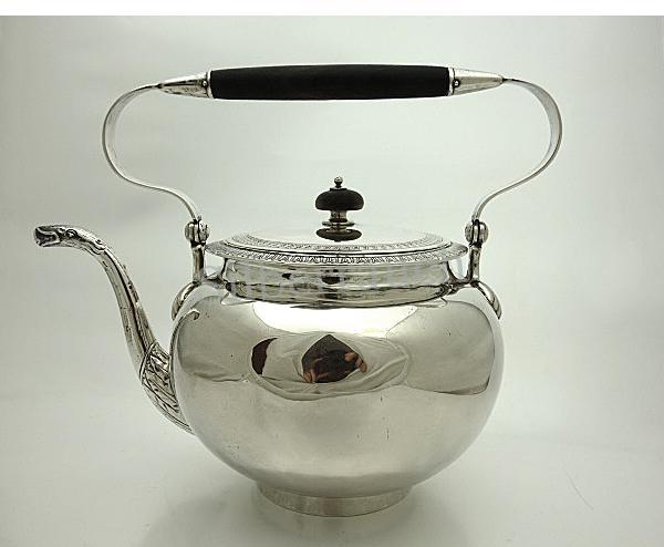 Biedermeier Silber Teekessel aus Berlin