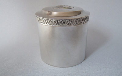 Biedermeier Silber Gewürzdose/Deckeldose aus Breslau