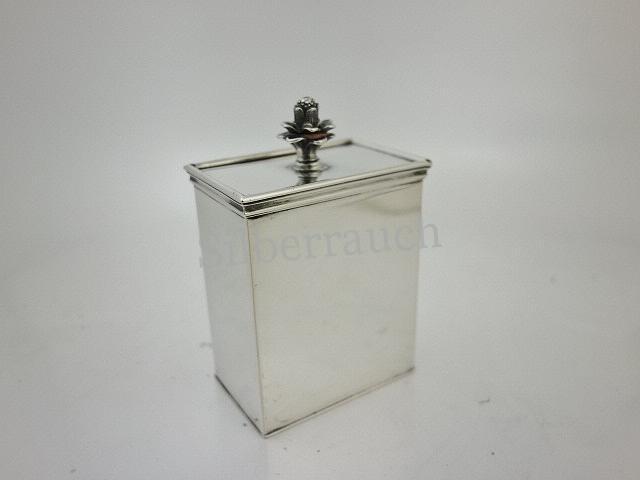 Teedose aus 800 er Silber