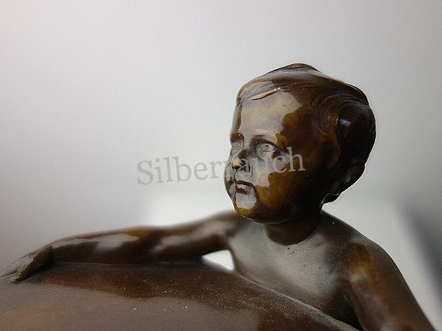 Kinderfigur Bronze Adolf Schmid Pforzheim, um 1920