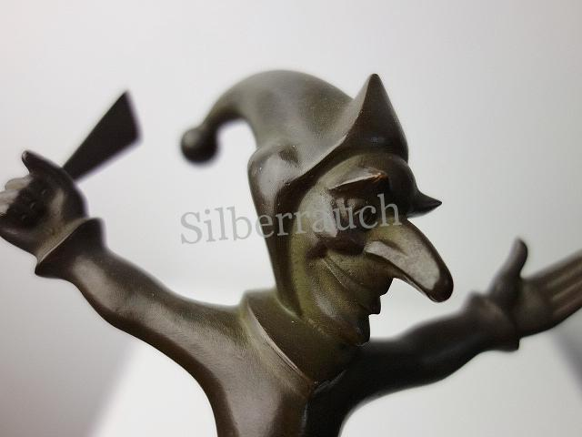 Stehender Harlekin Bronze um 1920, Roland Paris