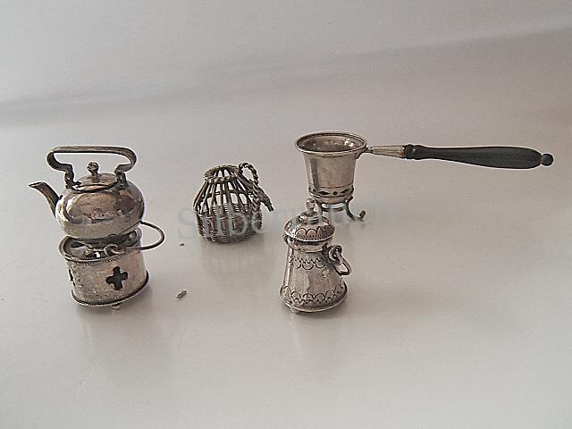 Kleine Sammlung holländisches Miniatursilber