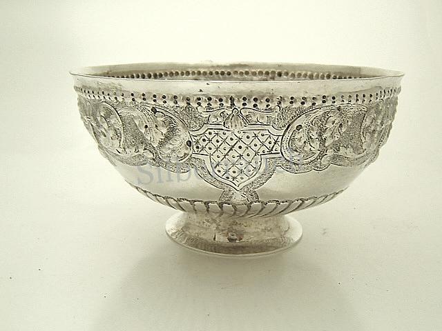 Barocke Silber Zuckerschale aus Emden in Ostfriesland