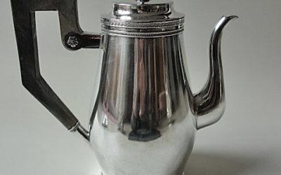 Schwere Silber Empire Kanne aus Celle, Anfang 19. Jahrhundert