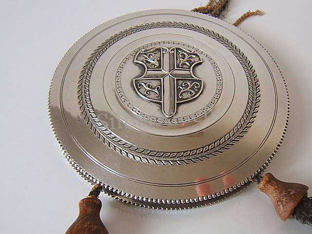 Große historische Siegelkapsel aus Silber