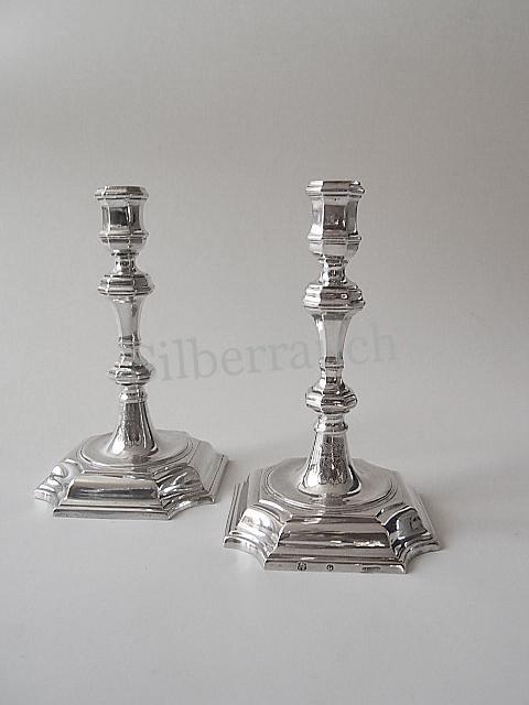 Paar Barock Silber Kerzenleuchter aus Hannover