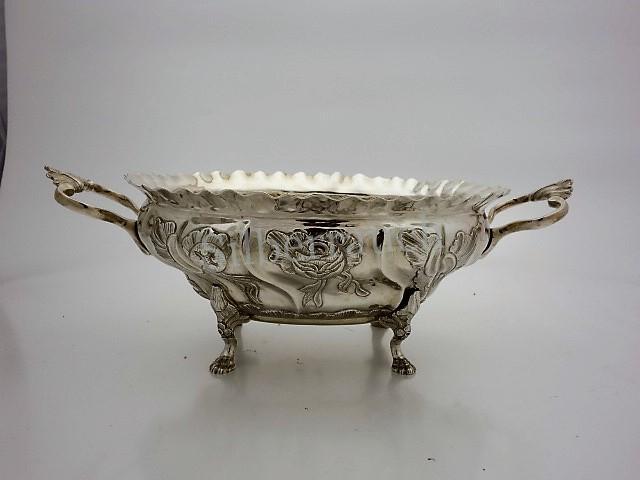 Rokoko Anbietschale aus Silber, Kopenhagen 1762