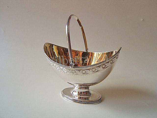 Feines Empire Silber Henkelkörbchen aus London, 18 Jahrhundert