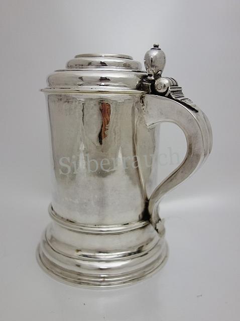Barocker Silber Deckelkrug aus Lübeck mit bedeutender Familienhistorie
