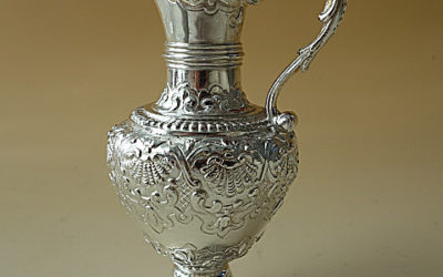 Kleine barocke Silber Helmkanne aus Madrid, 18. Jahrhundert