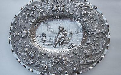 Barocke Silber Schauplatte aus Nürnberg, 17. Jahrhundert