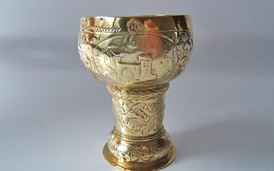 Kleiner Silber vergoldeter Römerbecher aus Nürnberg, 17. Jahrhundert