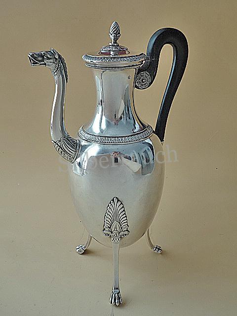 Empire Kaffeekanne aus 950 er Silber, Paris 19. Jahrhundert