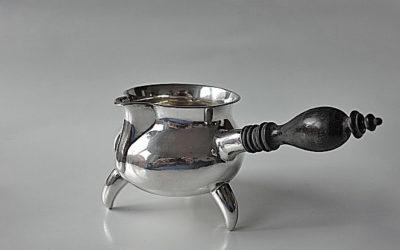 Sahnekännchen Rahmkrug Sauciere aus Silber, Tondern in Dänemark, Mitte 19. Jahrhundert