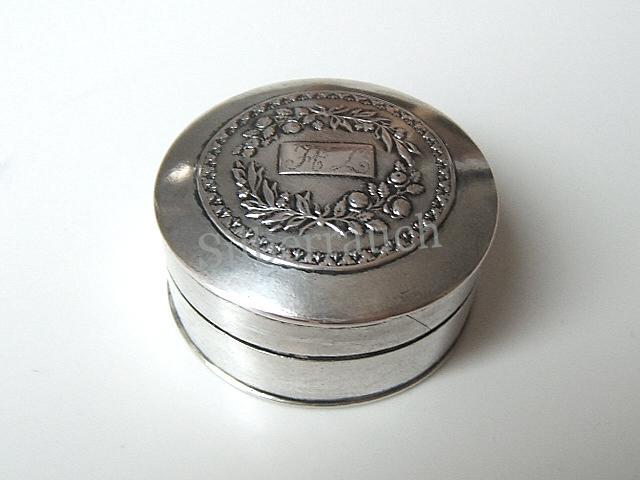 Biedermeier Riechdose/Pomander aus Silber, Tilsit um 1820
