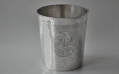 Barock Silber Becher aus Riga für einen Täufling, 17. Jahrhundert