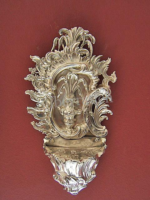 Rokoko Silber Weihwasserbehälter aus Budapest, 18. Jahrhundert