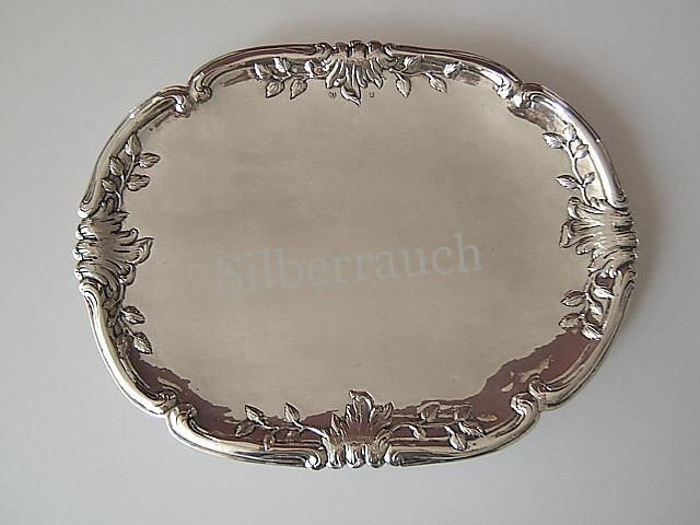 Seltenes Silber Rokoko Tablett aus Hamburg – Altona