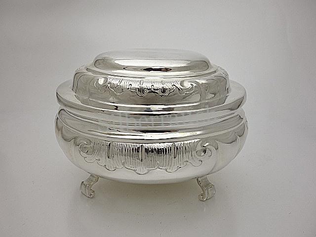 Rokoko Silber Zuckerdose aus Sagan in Schlesien