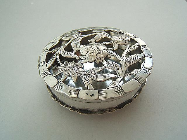 Seltene Rokoko Silber Riechdose aus Schweinfurt