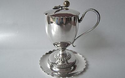 Seltener klassizistischer-frühbiedermeierlicher Silber Senftopf aus Regensburg