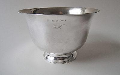 Empire Biedermeier Silber Schale aus Stockholm