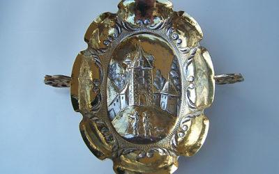 Barocke Silber vergoldete Branntweinschale aus Straßburg, 17 Jahrhundert