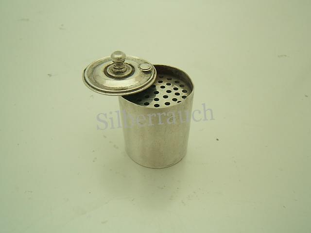 Miniatur Streudose aus Silber