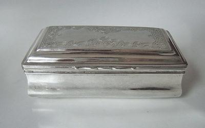Große Barock Silber Tabatiere Tabakdose Mitteldeutsch 18 Jahrhundert
