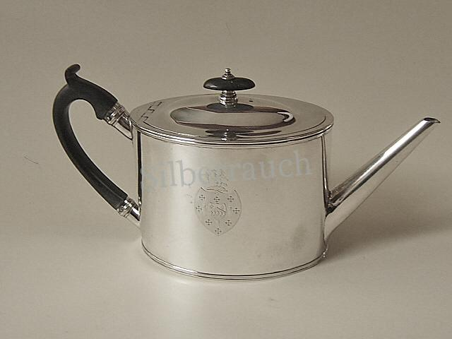 Feine Teekanne aus 925 Sterling Silber, London 18. Jahrhundert