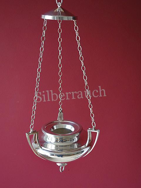Klassizistische Ampel aus Silber, Wien, Ende 18. Jahrhundert