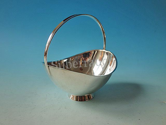 Zierliche Silberschale der 1950/60er Jahre aus 925 Silber