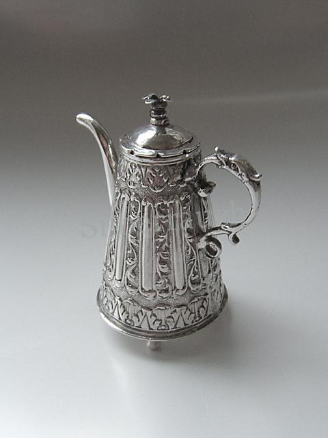 Miniatur Silber Kaffeekanne, Amsterdam 18. Jahrhundert
