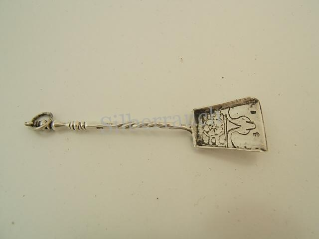 Holland Miniatur Silber Ascheschaufel des 18. Jahrhunderts